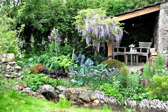 Green spaces can be good for mental health, an example of a garden from the 2018 Chelsea Flower Show. (Getty Images)