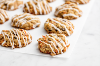 """<p>The cream cheese glaze though.</p><p>Get the recipe from <a href=""""https://www.delish.com/cooking/recipe-ideas/recipes/a50448/carrot-cake-cookies-recipe/"""" rel=""""nofollow noopener"""" target=""""_blank"""" data-ylk=""""slk:Delish"""" class=""""link rapid-noclick-resp"""">Delish</a>.</p>"""