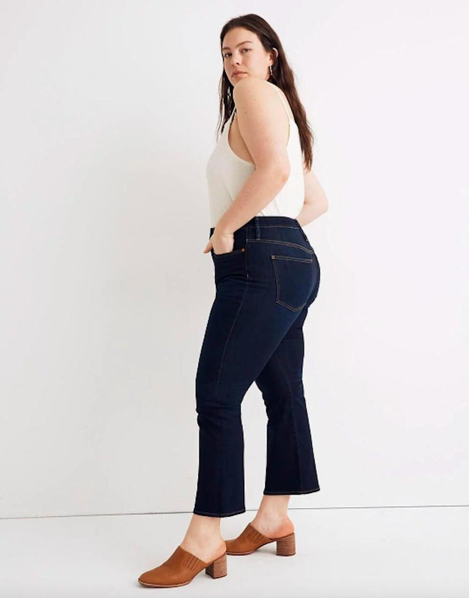 <p>Go for a cropped pair with the <span>Madewell Curvy Cali Demi-Boot Jeans</span> ($128). Wear them with boot, clogs, or sneakers. No matter what you'll always look chic.</p>