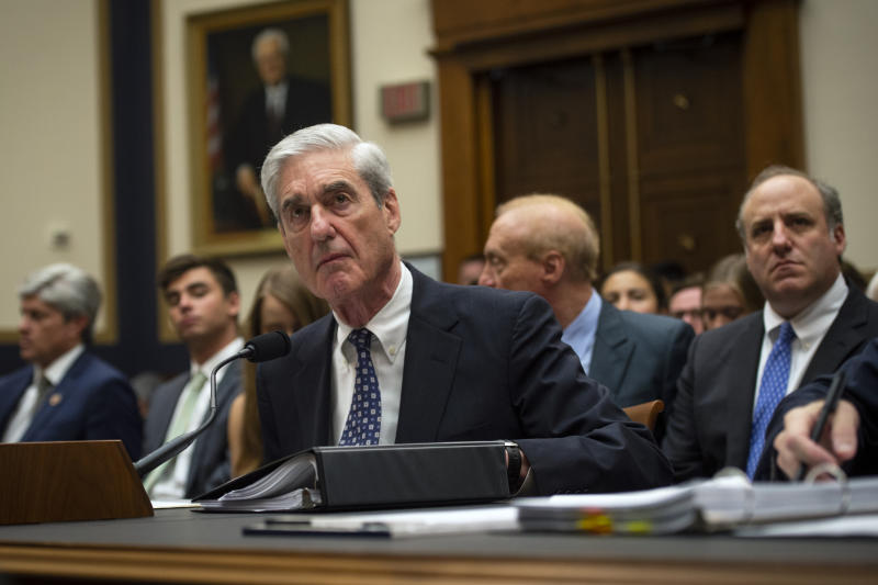 "UNITED STATES - JULY 24: Former Special Counsel Robert Mueller testifies during the House Judiciary Committee hearing on ""Oversight of the Report on the Investigation into Russian Interference in the 2016 Presidential Election"" in Washington on Tuesday July 24, 2019. (Photo by Caroline Brehman/CQ Roll Call)"