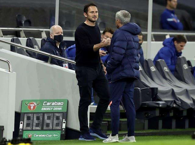 Jose Mourinho, right, sympathised with Lampard after his sacking
