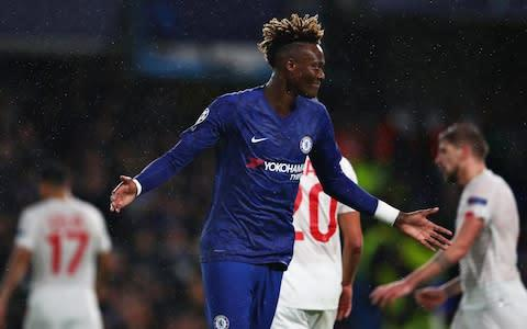 <span>Tammy Abraham continued his excellent run of form this season</span> <span>Credit: Getty Images </span>