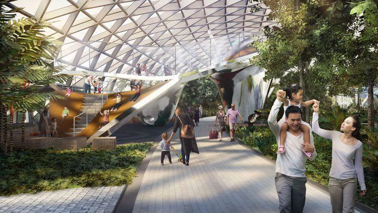Discovery Slides play attraction. (Photo: Jewel Changi Airport Devt.)