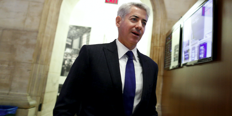 Bill Ackman walks to the floor of the New York Stock Exchange. (Reuters/ Brendan McDermid)