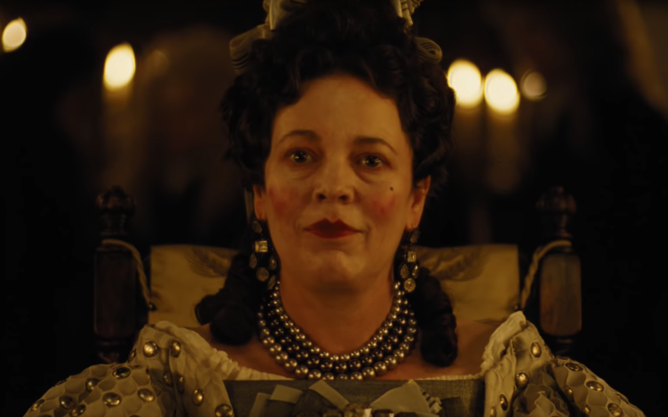 Olivia Colman dons the crown in the first teaser for <i>The Favourite</i> (Fox Searchlight)