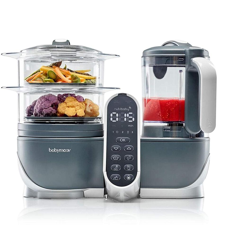 <p>Cooking just got so much easier with this <span>Duo Meal Station Food Maker</span> ($160). The six-in-one device features two steamer baskets and a three-blade food processor. It's great for making and prepping baby food as well!</p>