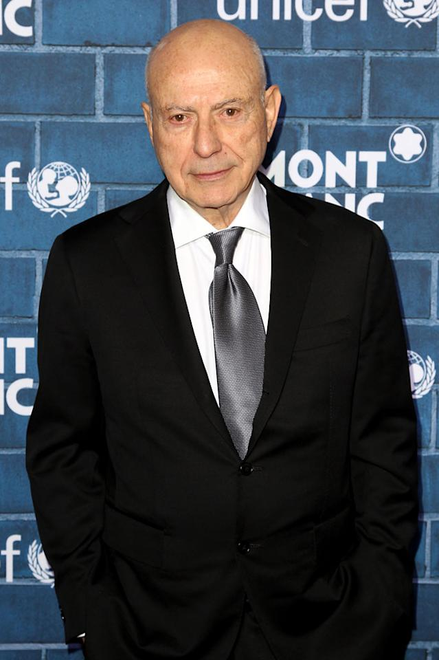 "Alan Arkin attends a Pre-Oscar charity brunch hosted by Montblanc and UNICEF to celebrate the launch of their new ""Signature For Good 2013"" Initiative with special guest Hilary Swank at Hotel Bel-Air on February 23, 2013 in Los Angeles, California."