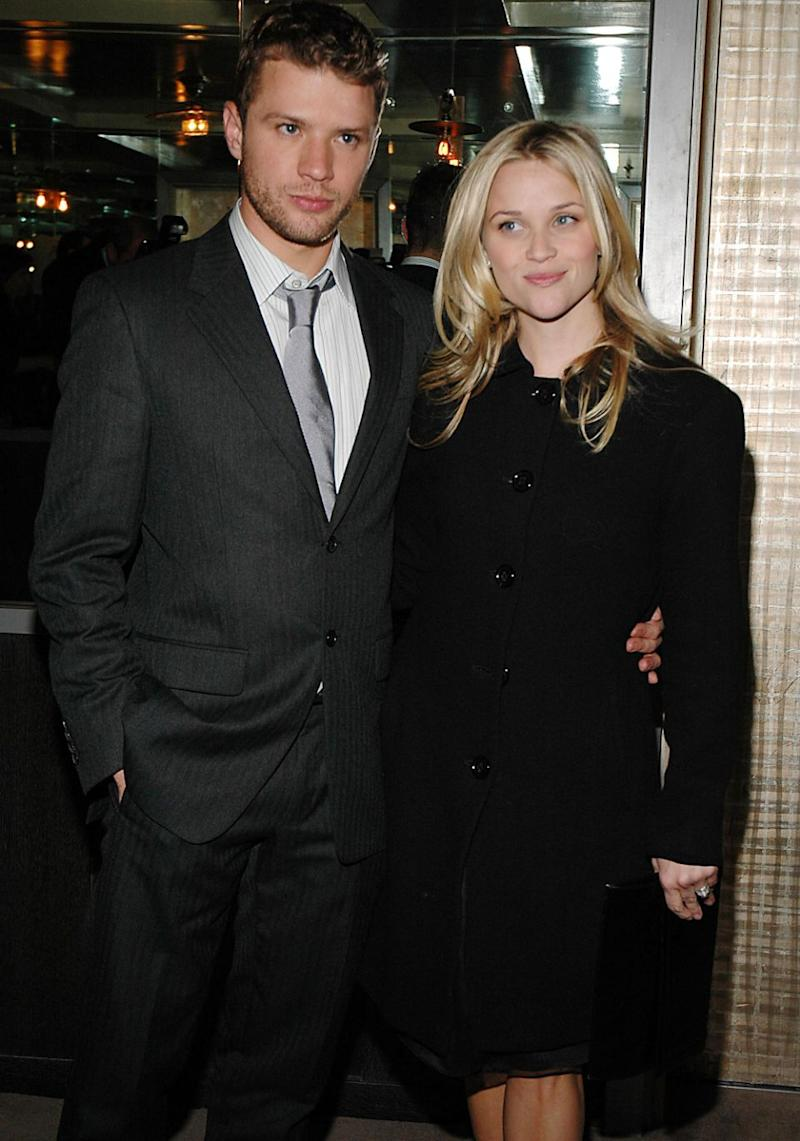 Ryan was previously married to Reese Witherspoon. Source: Getty