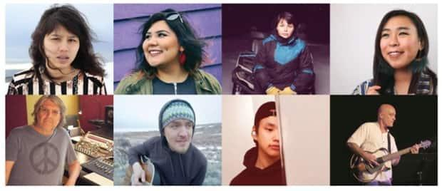 Four of the artists who took part in the Ottawa music retreat — Joey Nowyuk, Jacob Okatisak, Brenda Montana, and Angela Amarualik — wrote songs, recorded, and producedtheir upcoming albums. Two others, Aocelyn and Shauna Seeteenak, recorded music videos for upcoming singles. (Hitmakerz - image credit)