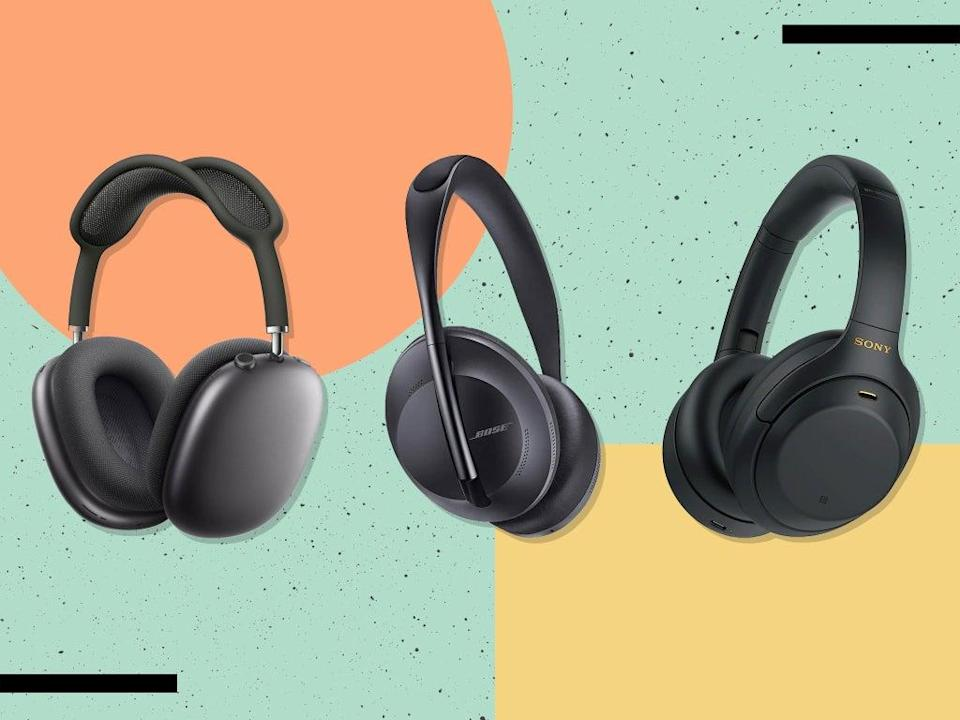 Over- or on-ear headphones are less intrusive – and usually have better battery life – than in-ear versions (iStock/The Independent)