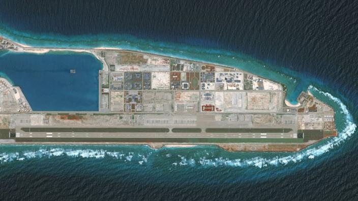 An overview of the Fiery Cross Reef