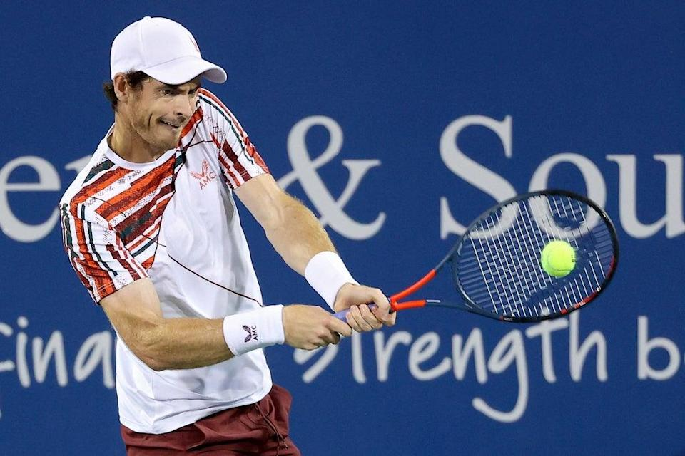 Andy Murray on his way to victory  (Getty Images)
