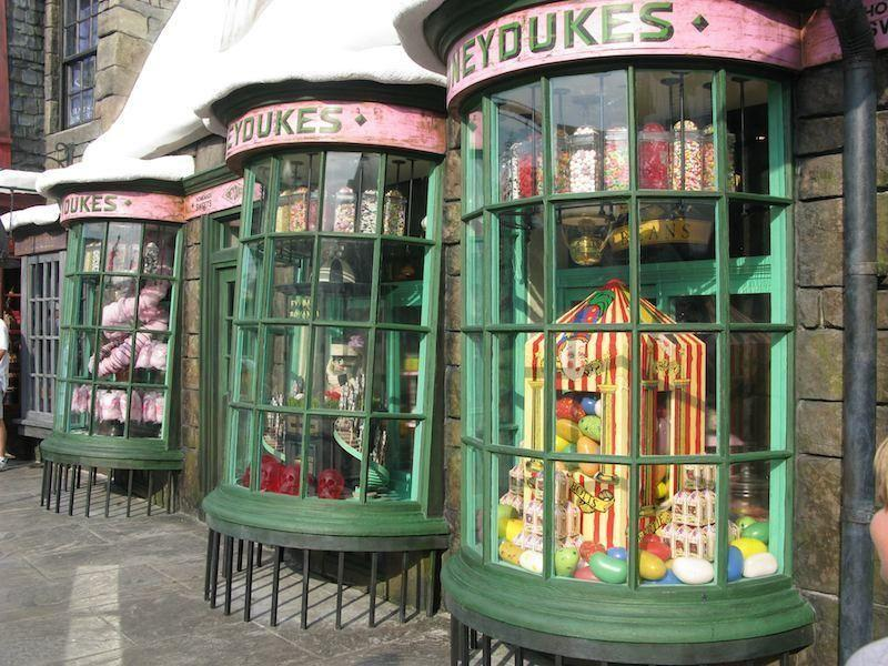 Honeydukes is where you'll find chocolate frogs and Bertie Botts beans.