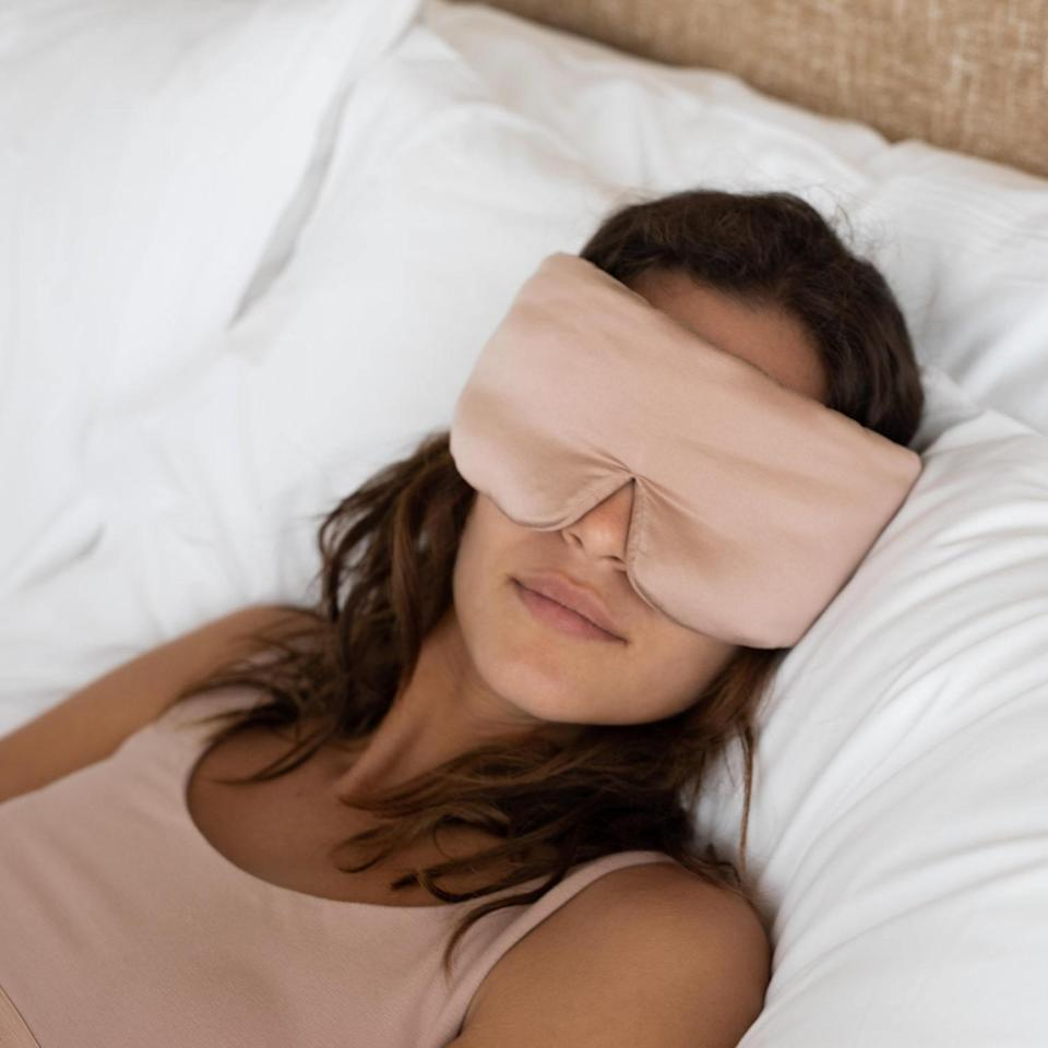 """<h2>Lunya Washable Silk Sleep Mask</h2><br>Treat your travel-weary eyes to a 100%-silk snooze with this chic machine-washable mask — customers rave that it's everything from """"comfy"""" to """"luxurious"""" and great on """"skin and hair.""""<br><br><em>Shop</em> <strong><em><a href=""""http://lunya.com"""" rel=""""nofollow noopener"""" target=""""_blank"""" data-ylk=""""slk:Lunya"""" class=""""link rapid-noclick-resp"""">Lunya</a></em></strong><br><br><strong>Lunya</strong> Washable Silk Sleep Mask, $, available at <a href=""""https://go.skimresources.com/?id=30283X879131&url=https%3A%2F%2Fwww.lunya.co%2Fproducts%2Fwashable-silk-sleep-mask"""" rel=""""nofollow noopener"""" target=""""_blank"""" data-ylk=""""slk:Lunya"""" class=""""link rapid-noclick-resp"""">Lunya</a>"""