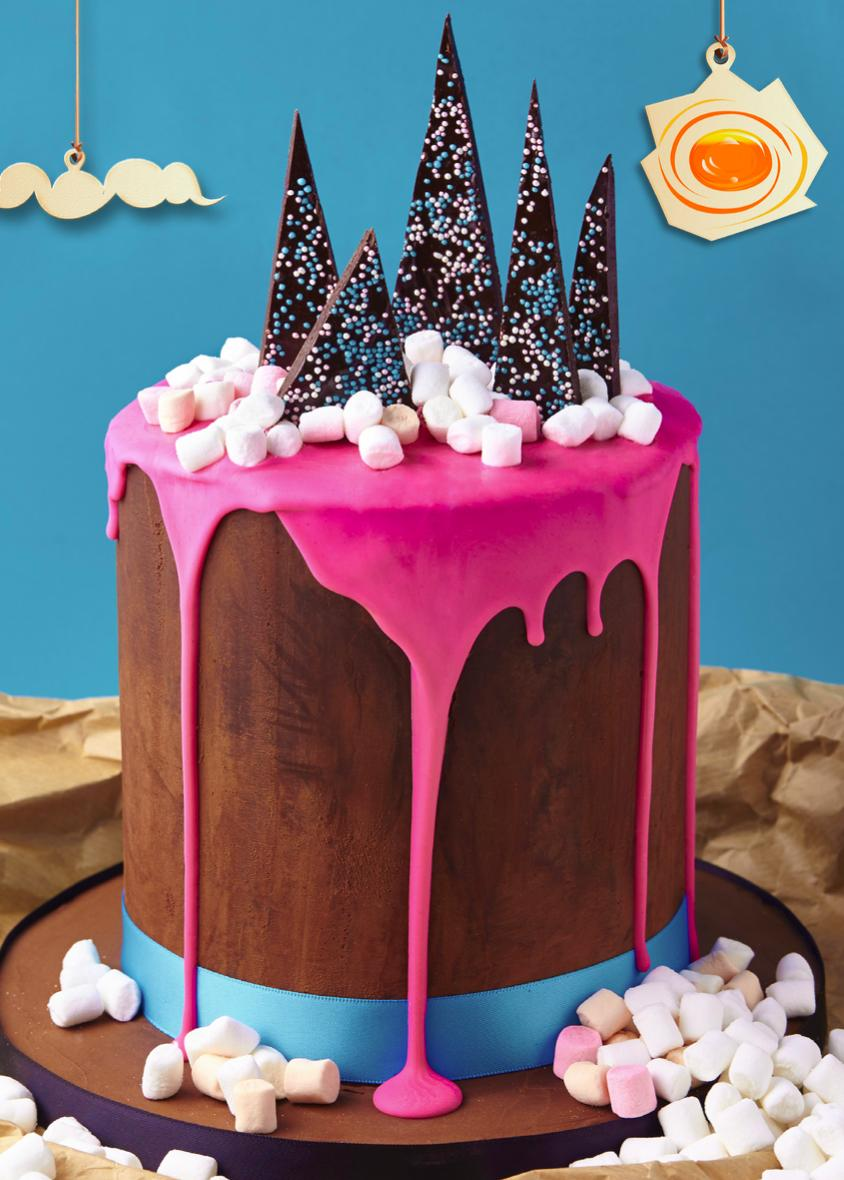 The Chocolate Mountain Cake, featured in the Candy Crush Cakes & Bakes Recipe Book. (Photo: Candy Crush)