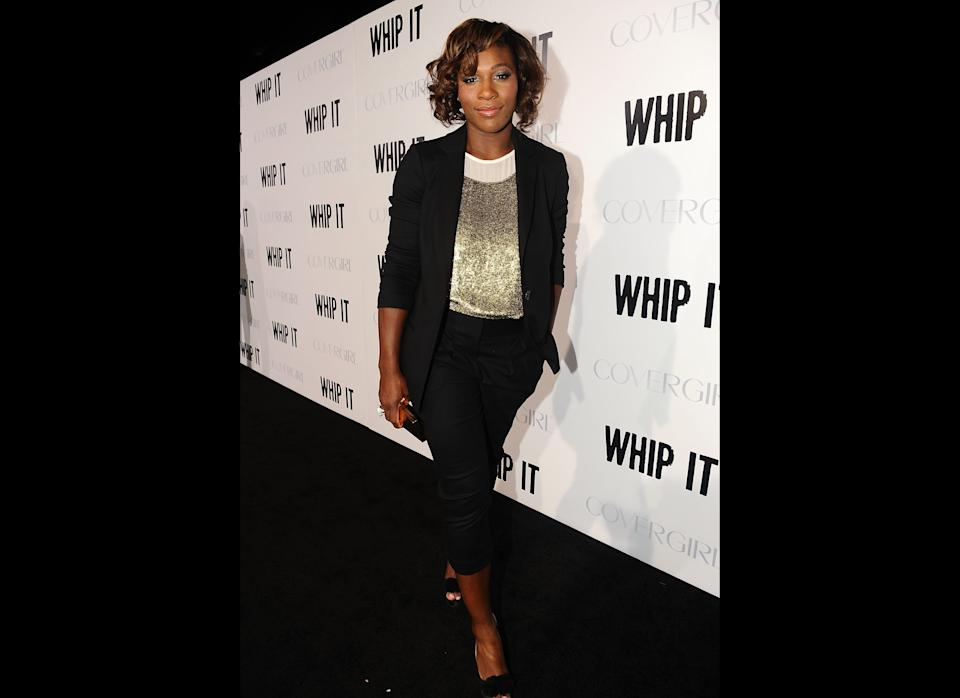 """Looking dope at the premiere of """"Whip It"""" in Los Angeles, California."""