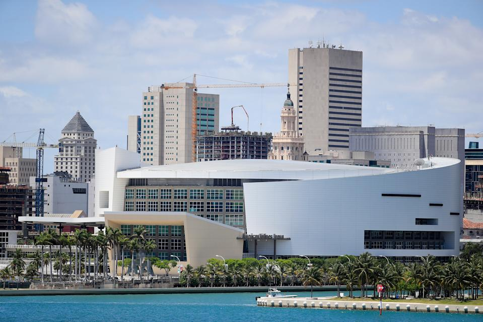 AmericanAirlines Arena will not be a voting site in this year's election. (Photo by Cliff Hawkins/Getty Images)
