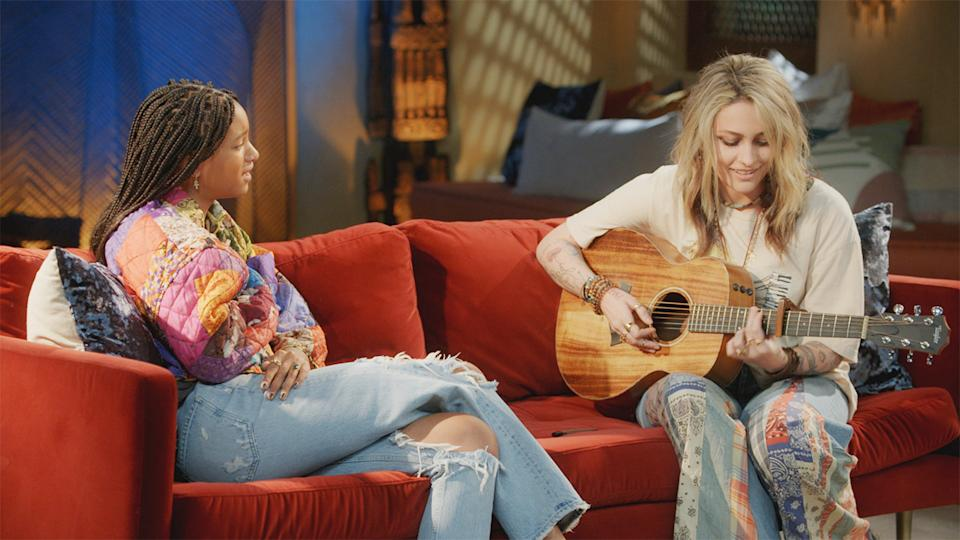 This week on Red Table Talk, Paris Jackson opened up to Willow Smith about trying EMDR treatment for post-traumatic stress disorder. (Photo: Red Table Talk/Facebook Watch)