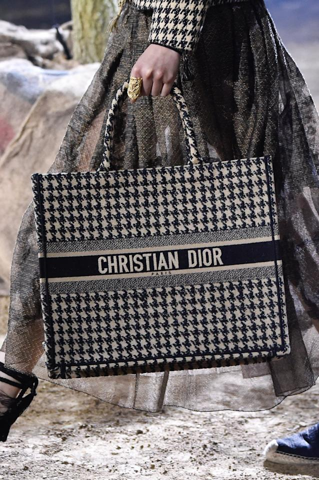 <p>A Christian Dior Bag on the Runway at Paris Fashion Week </p>