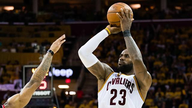 Look out, Michael Jordan. LeBron James is closing in on the NBA great for most postseason points.