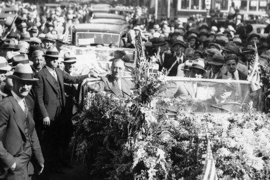 """This was the slogan that FDR used against his opponent, Alf Landon, who was from Kansas. As EVERYONE KNOWS, the official state flower of Kansas is the sunflower, and election day is in November. Despite this terrible, """"bad-poetry-as-political-attack"""" campaign slogan, Roosevelt still carried the election, possibly because nobody wanted a President named Alf."""