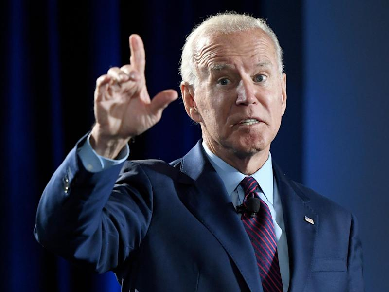 Democratic presidential candidate Joe Biden poses question in speech questioning whether Donald Trump's presidency has politicised young Americans: Ethan Miller/Getty Images
