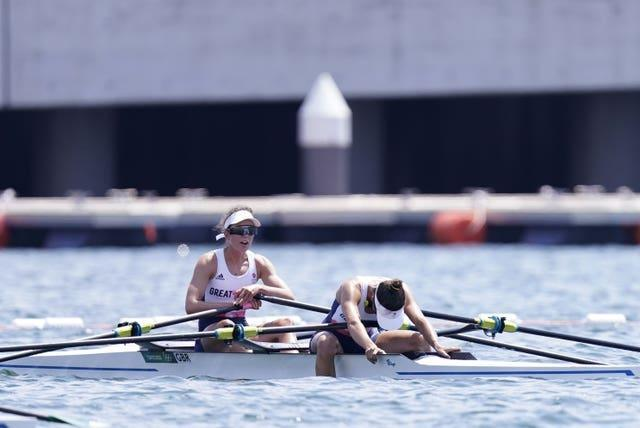 Emily Craig and Imogen Grant missed out on a medal by 0.01 seconds
