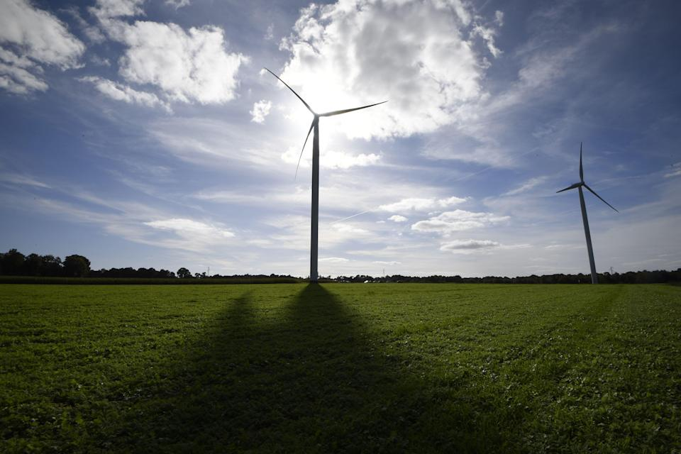 Wind farms are one way of making energy that's believed to be better for the environment. Getty Images