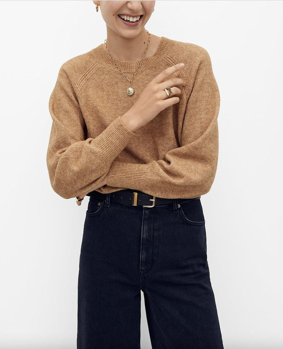 <p>You can't go wrong with this effortlessly cool <span>Mango Raglan Sleeve Sweater</span> ($16, originally $40).</p>