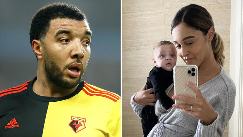 Troy Deeney (pictured left) and his family (pictured right).