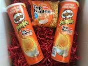 "<p>This Dollar General exclusive isn't for everyone, but it was popular enough to be brought back for a <a href=""https://www.delish.com/food-news/news/a54141/new-pringles-top-ramen-chicken/"" rel=""nofollow noopener"" target=""_blank"" data-ylk=""slk:second limited release"" class=""link rapid-noclick-resp"">second limited release</a>. And, at $1.69 a canister, you'd have a tough time finding a more unique flavor journey for such a bargain.</p>"
