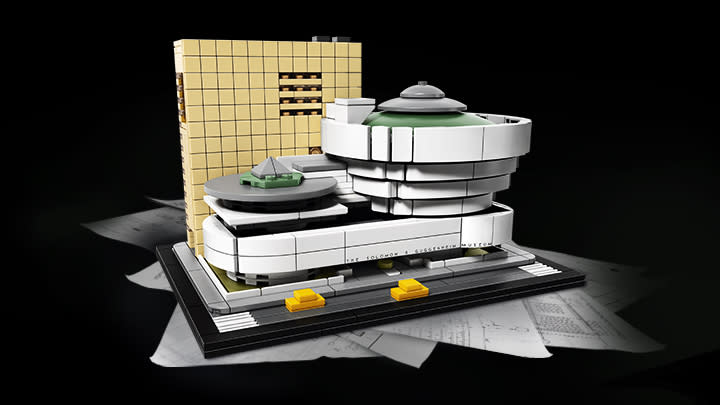 """<p>A Lego version of the Guggenheim Museum, $79.99. Available on <a rel=""""nofollow"""" href=""""https://shop.lego.com/en-US/Solomon-R-Guggenheim-Museum-21035"""">lego.com</a> </p>"""