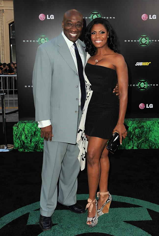 """<a href=""""http://movies.yahoo.com/movie/contributor/1800308214"""">Michael Clarke Duncan</a> and guest at the Los Angeles premiere of <a href=""""http://movies.yahoo.com/movie/1810166777/info"""">Green Lantern</a> on June 15, 2011.   <a href=""""http://yhoo.it/Movies_Top_Page_Link"""">See more at Yahoo! Movies</a>  <a href=""""http://yhoo.it/Showtimes_Link"""">Find showtimes and tickets</a>"""