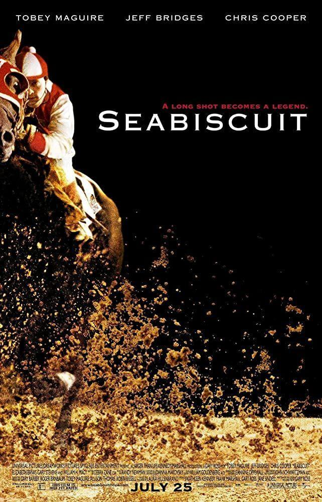 """<p>Who can resist an underdog story? Not me. And you probs can't either. Seabiscuit is the underrated horse that exceeds all odds and steals hearts, a glimmering good story in the midst of the Great Depression. He's a legend.</p><p><a class=""""link rapid-noclick-resp"""" href=""""https://www.amazon.com/Seabiscuit-Jeff-Bridges/dp/B015S61YQ4?tag=syn-yahoo-20&ascsubtag=%5Bartid%7C2140.g.27486022%5Bsrc%7Cyahoo-us"""" rel=""""nofollow noopener"""" target=""""_blank"""" data-ylk=""""slk:Watch Here"""">Watch Here</a></p>"""