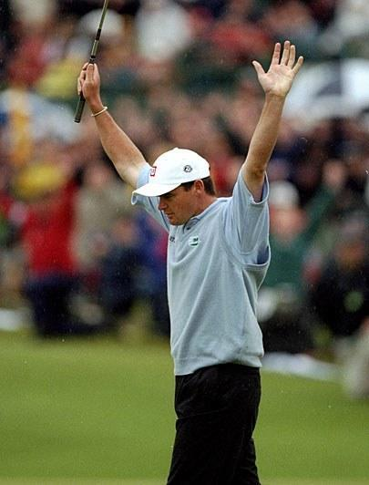 Lost in all the attention surrounding Jean Van de Velde's infamous collapse on the 72nd hole at Carnoustie was the surprising play of a 30-year-old Scotsman. Lawrie shot a Sunday 67 (his previous best round of the week was 73) and then beat Van de Velde and Justin Leonard in a four-hole playoff to complete the largest final-round comeback (10 shots) in major-championship history. Lawrie hasn't finished higher than T-42 at the Open since.