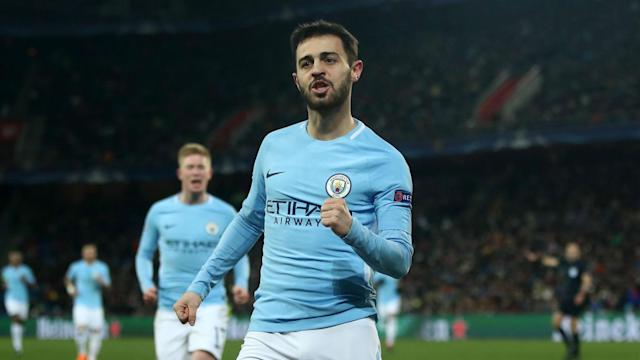 Ilkay Gundogan scored in each half as Bernardo Silva and Sergio Aguero also weighed in on Manchester City's latest attacking masterclass.