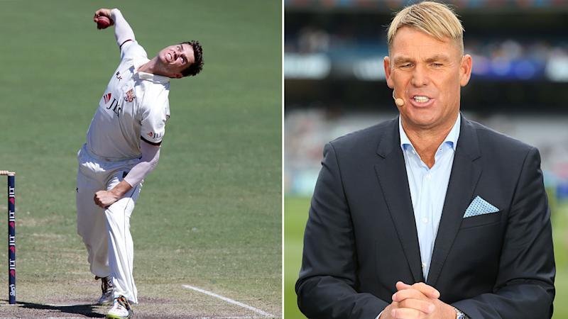 Pictured on the right, Shane Warne wants Aussie selectors to pick Mitchell Swepson for the Sydney Test.