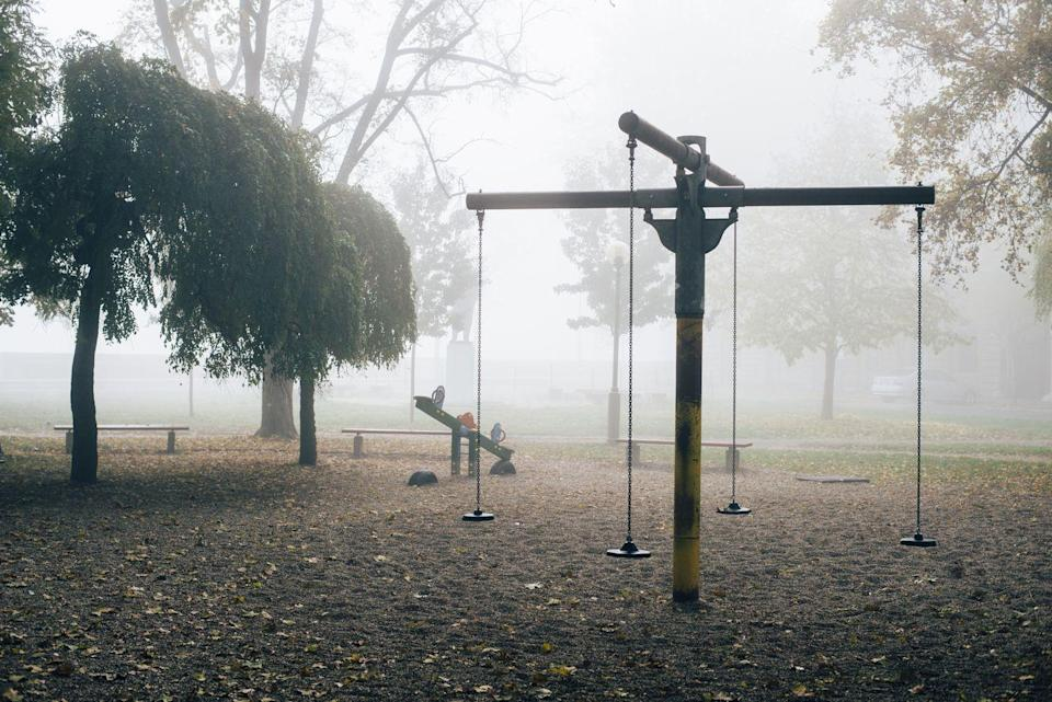"""<p>Inside Maple Hill Cemetery, one of Alabama's oldest and largest burial sites, there lies a playground that is popular for both the living and the dead. <a href=""""https://www.atlasobscura.com/places/dead-children-s-playground-2"""" rel=""""nofollow noopener"""" target=""""_blank"""" data-ylk=""""slk:According to Huntsville locals"""" class=""""link rapid-noclick-resp"""">According to Huntsville locals</a>, swings are often swaying by themselves and apparitions of little children have been spotted on the playground late at night. </p>"""