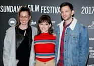 <p>'I Don't Feel at Home in This World Anymore' ensemble join together for the Sundance debut. (Photo: Chad Hurst/Getty Images) </p>