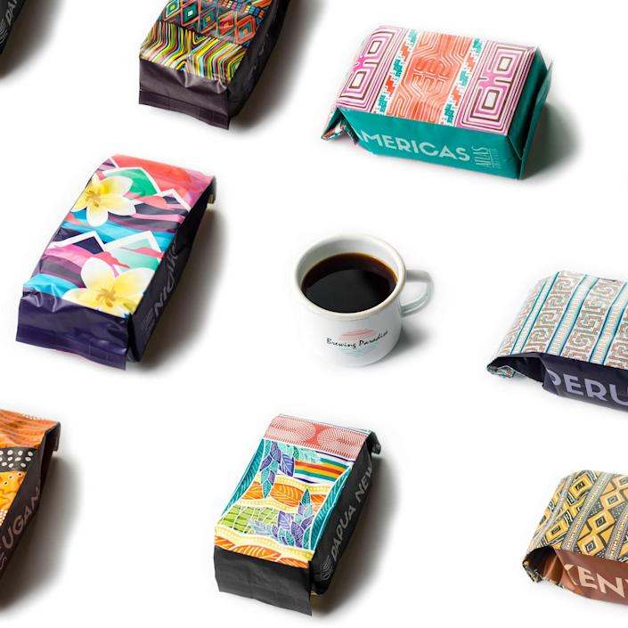 """Atlas Coffee Club is a great way for Dad to <a href=""""https://www.glamour.com/gallery/coffee-subscription-boxes?mbid=synd_yahoo_rss"""" rel=""""nofollow noopener"""" target=""""_blank"""" data-ylk=""""slk:taste beans"""" class=""""link rapid-noclick-resp"""">taste beans</a> from all over the world, with single-origin bags from Columbia, Brazil, Kenya, and more. Each order comes with a little postcard explaining the flavor—plus brewing tips for each batch. One flat white, coming right up. $60, Atlas Coffee Club. <a href=""""https://atlascoffeeclub.com/collections/the-perfect-gift-for-any-coffee-lover/products/3-mo-gift?"""" rel=""""nofollow noopener"""" target=""""_blank"""" data-ylk=""""slk:Get it now!"""" class=""""link rapid-noclick-resp"""">Get it now!</a>"""