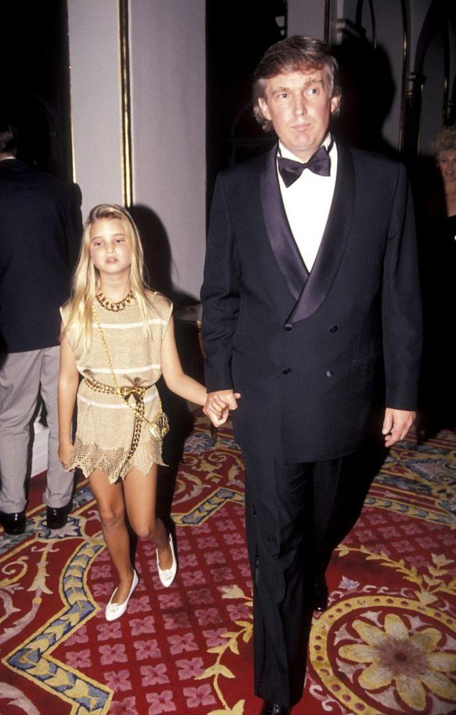 Ivanka Trump and Donald Trump in 1991. (Photo: Getty Images)