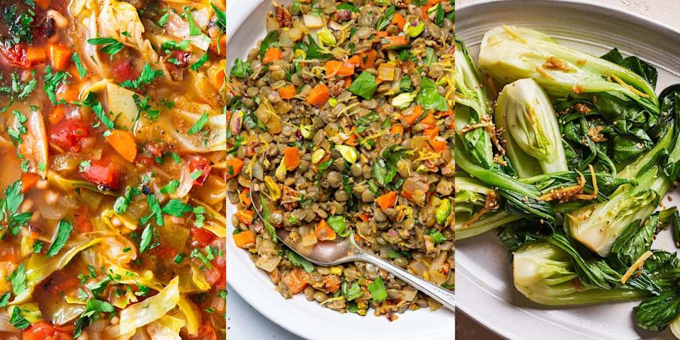 """<p>Nothing quite compares to cooking up a meal that's healthy AND hearty (and most importantly, low fat). But, what are those kind of meals? Well, when following a low fat diet you can eat everything from beans and legumes, to fish and chicken. It's just about what else you pair with the meal. Low on inspo? We've got LOADS of delicious-tasting low fat recipes including <a href=""""https://www.delish.com/uk/cooking/recipes/a33559538/sweet-potato-salad-recipe/"""" rel=""""nofollow noopener"""" target=""""_blank"""" data-ylk=""""slk:Sweet Potato Salad"""" class=""""link rapid-noclick-resp"""">Sweet Potato Salad</a>, <a href=""""https://www.delish.com/uk/cooking/recipes/a34582788/easy-spinach-lentil-soup-recipe/"""" rel=""""nofollow noopener"""" target=""""_blank"""" data-ylk=""""slk:Spinach Lentil Soup"""" class=""""link rapid-noclick-resp"""">Spinach Lentil Soup</a> and <a href=""""https://www.delish.com/uk/cooking/recipes/a34050815/balsamic-grilled-mushrooms-recipe/"""" rel=""""nofollow noopener"""" target=""""_blank"""" data-ylk=""""slk:Grilled Balsamic Mushrooms."""" class=""""link rapid-noclick-resp"""">Grilled Balsamic Mushrooms.</a></p>"""