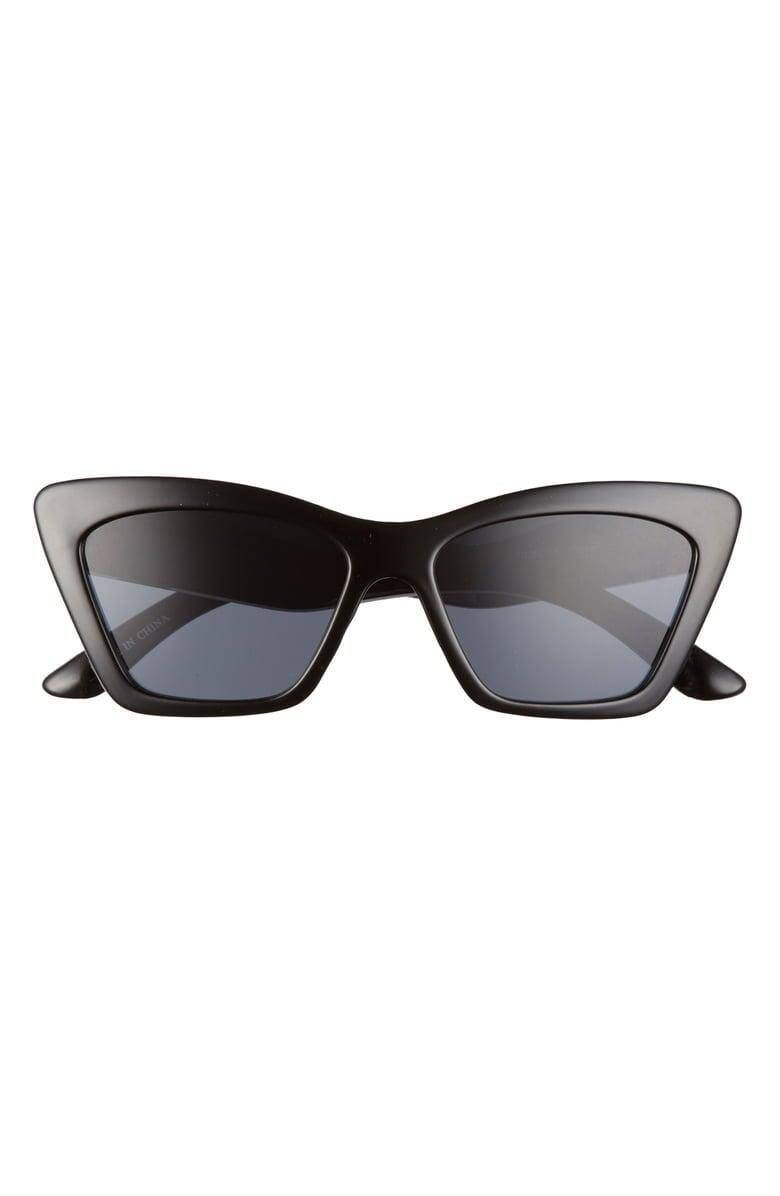 <p>Pair these cute <span>BP. 55mm Rectangle Cat Eye Sunglasses</span> ($15) with a face mask and no one will recognize you on the street.</p>
