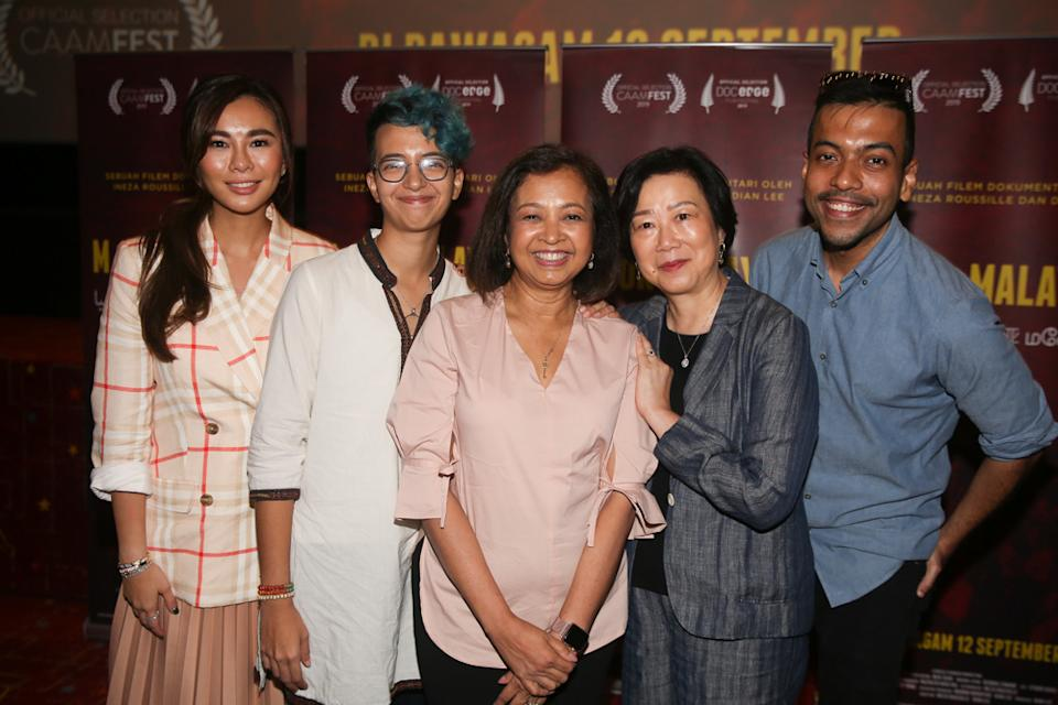 'M for Malaysia' production team, comprising Dian Lee, Ineza Roussille, Datin Paduka Marina Mahathir, Ruby Yang and Rendra Zawawi. — Picture by Choo Choy May