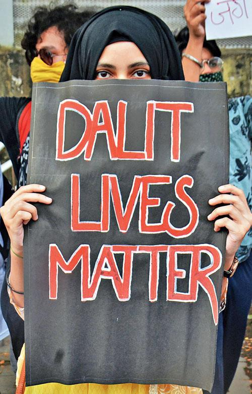 Public protesting against the atrocities towards dalits