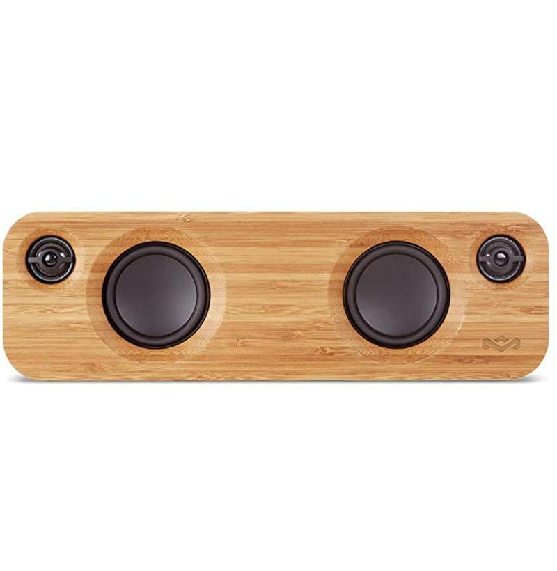 """<p><strong>House of Marley</strong></p><p>amazon.com</p><p><strong>$114.86</strong></p><p><a href=""""https://www.amazon.com/dp/B01DKGP5QO?tag=syn-yahoo-20&ascsubtag=%5Bartid%7C10054.g.18726497%5Bsrc%7Cyahoo-us"""" rel=""""nofollow noopener"""" target=""""_blank"""" data-ylk=""""slk:Buy"""" class=""""link rapid-noclick-resp"""">Buy</a></p><p>This mini Bluetooth speaker with stellar sound quality will greatly improve the life of the mom (and everyone else around) who's constantly playing music in the house from her phone. </p>"""