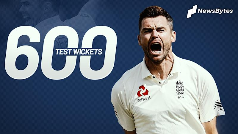 James Anderson becomes first pacer to take 600 Test wickets