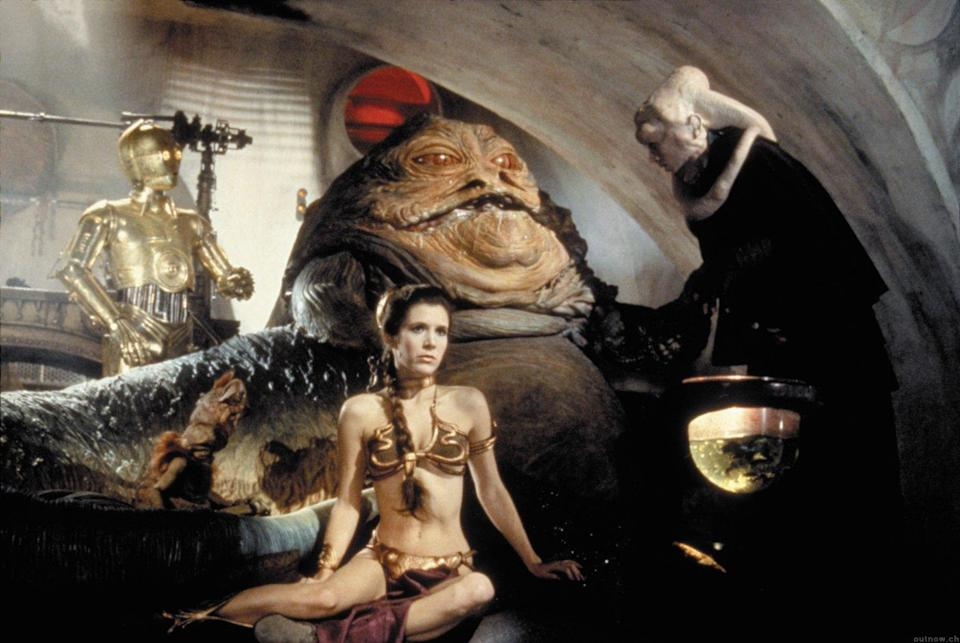 The notorious Jabba the Hutt in 1983's 'Return of the Jedi' (credit: Lucasfilm)