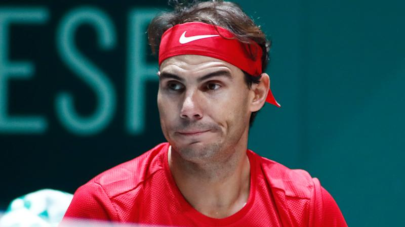 Rafael Nadal, pictured during the Davis Cup, has criticised the tournament scheduling.