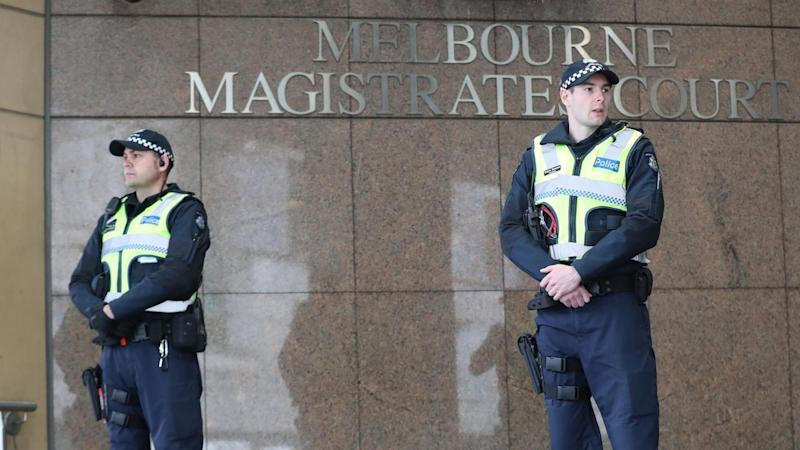Four men will return to court in Melbourne for the second day of their hearing on terror offences.